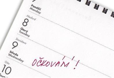 termín očkování v kalendáři