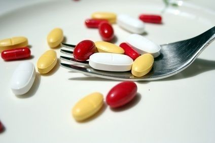 léky, vidlicka