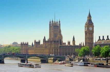 Londýn, Anglie, Británie, Big Ben, lodě, řeka