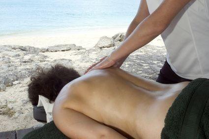 záda, masáž, relaxace