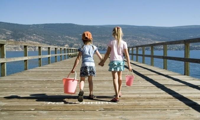 kluk a holka, prázdniny, sourozenci, léto, moře