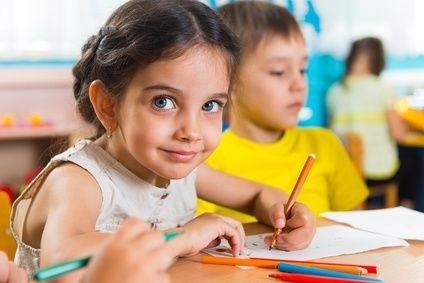 holčička, škole, dítě