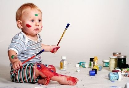 Zmalované dítě