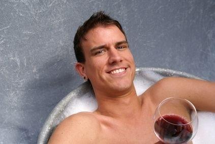 Muž ve vaně