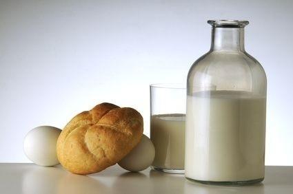 Mléko s houskou