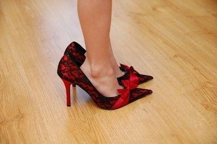 Boty,lodičky,malý,velký,nohy,žena