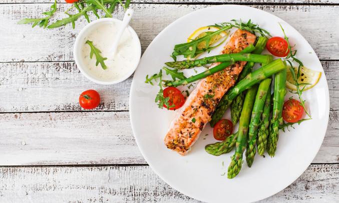 ryby, zdravá strava, jídlo, portraviny, zelenina