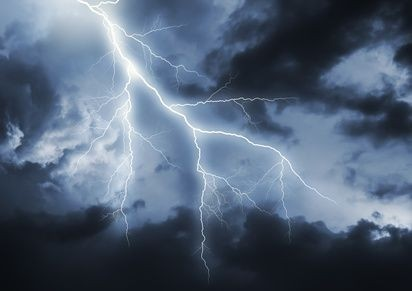 blesk při bouřce
