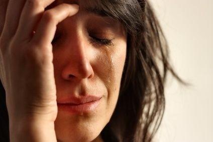Žena,deprese,smutek,pláč