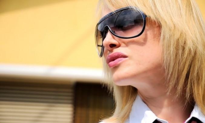 sluneční brýle, blondýna, žena, slunce