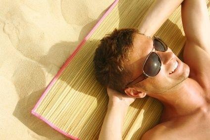 opalování, sluneční brýle, pláž, léto, slunce, horko