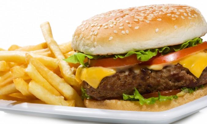 burger s hranolky