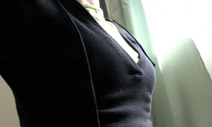 žena, hrudník, poprsí, výstřih
