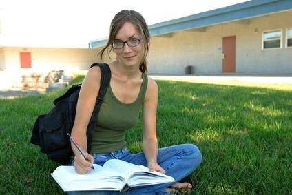 čtenářka, kniha, brýle, studium, učení