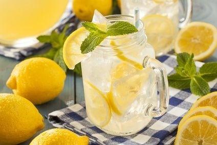 voda, citron, leda, džbán, klenice