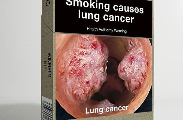 Krabička cigaret v Austrálii