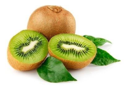plod kiwi, rozpůlené