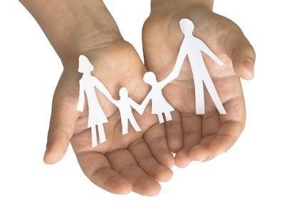 Rodina v ruce