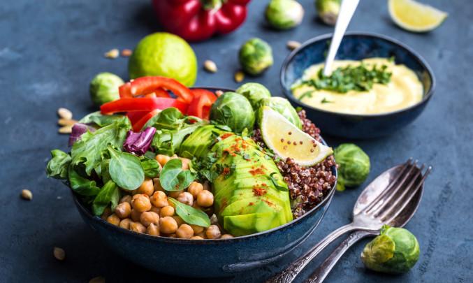 zelenina, vegetarian, bowl, jídlo