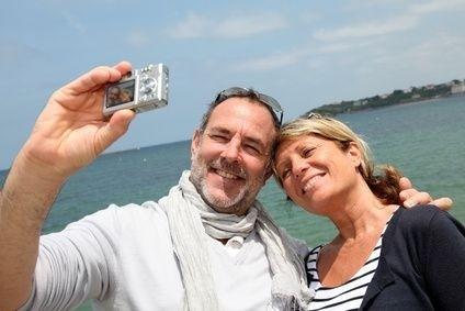 starší pár na dovolené
