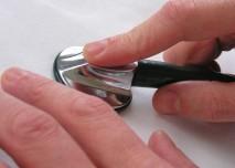 nástroj,ruka, vyšetření, fonendoskop