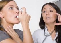 lékařka pacient astma