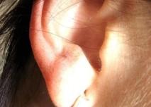 ucho, náušnice, žena, sluch