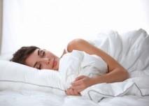 zena, spánek, postel, polstár