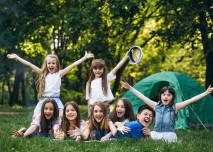 děti, tábor