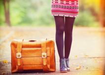 cestování se starým kufrem