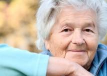 důchodkyně, veselá, žena, stará, šedivá