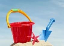 Hračky na pláži
