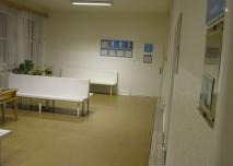 nemocnice, prostředí, interiér, chodba, čekárna