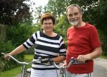 Senioři na kole, výlet