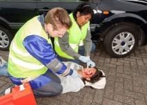 žena v šoku po autonehodě