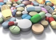 různé tablety a léky