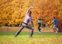 joga, podzim, sport