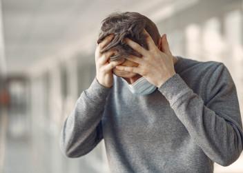 stres, pandemie, rouška