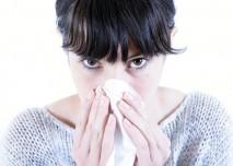 Rýma, chřipka, kapesník