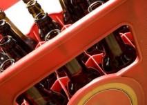 Přepravka s lahvovým pivem