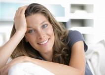žena se usmívá