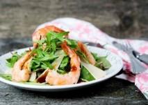 salát s krevetami