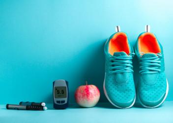 běh, zdravá strava, cukrovka
