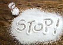 sůl, vysypaná, stop
