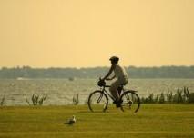výlet na kole kolem řeky