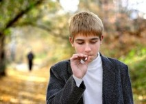 teenager, koureni, cigareta, dite