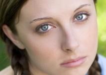 smutek, starost, stesk, velké modré oči, dívky, potrat