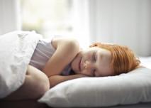 dítě, spí, postel