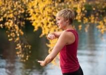 taiči, cvičení v přírodě