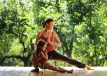jóga v parku